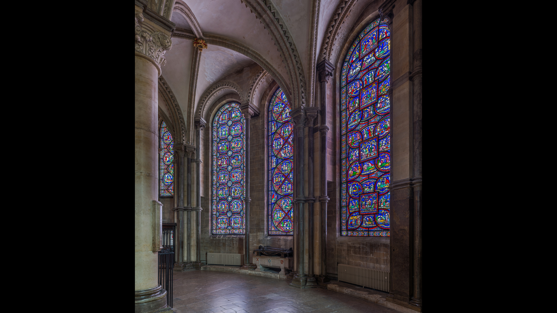"The famed ""Miracle Windows"" in Trinity Chapel were completed in 1220, and Becket's tomb has been visited by thousands of pilgrims."