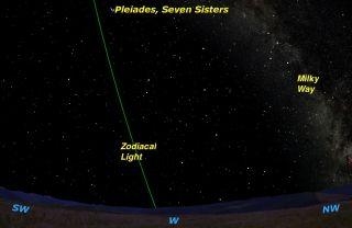 Zodiacal Light Sky Map