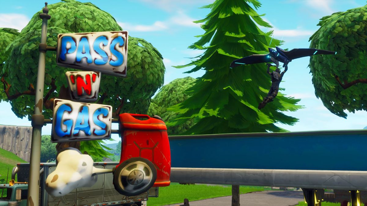 Find easy Fortnite Battle Stars between a bear, crater, and refrigerator shipment