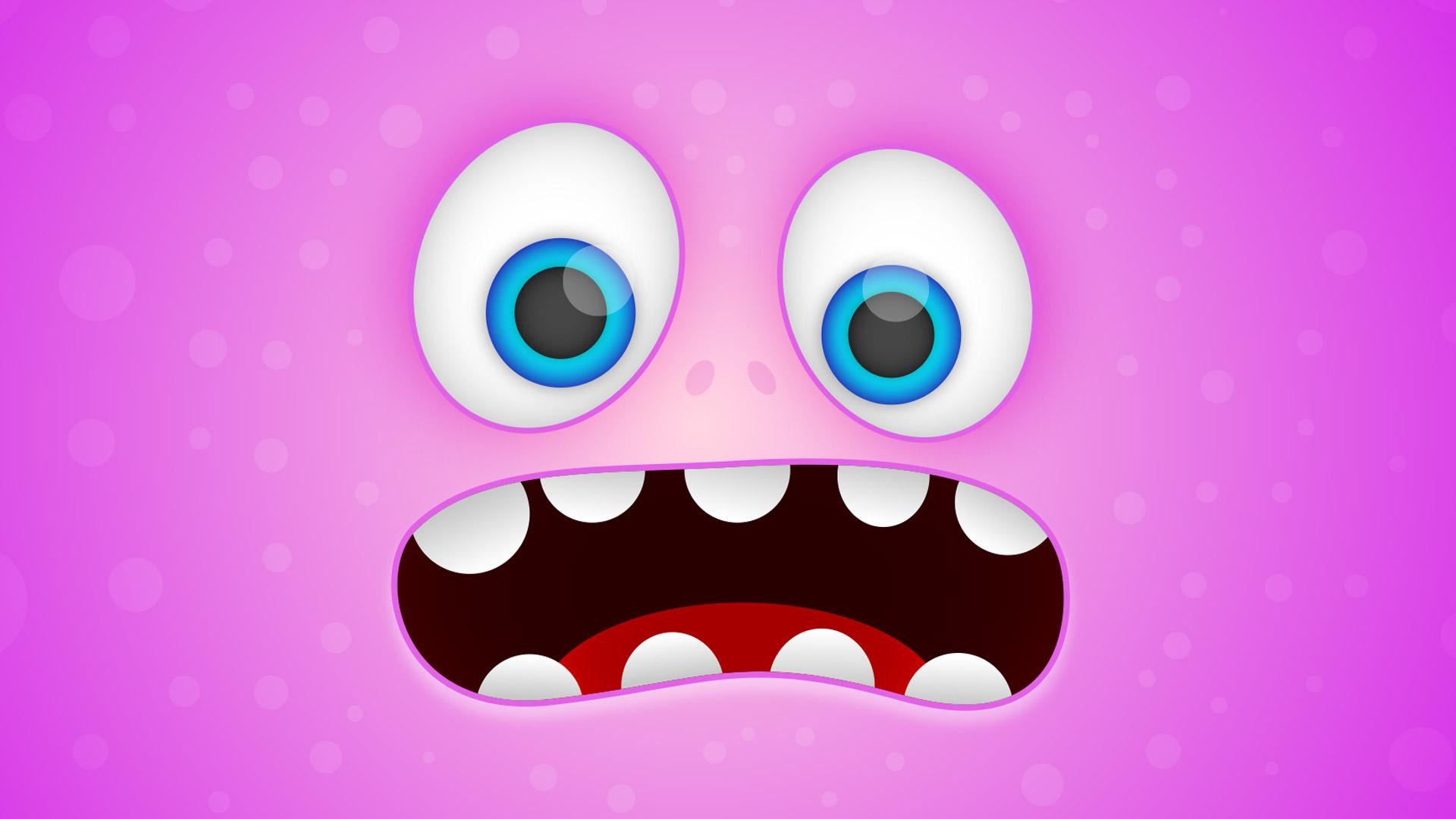 Cartoon of monster's face