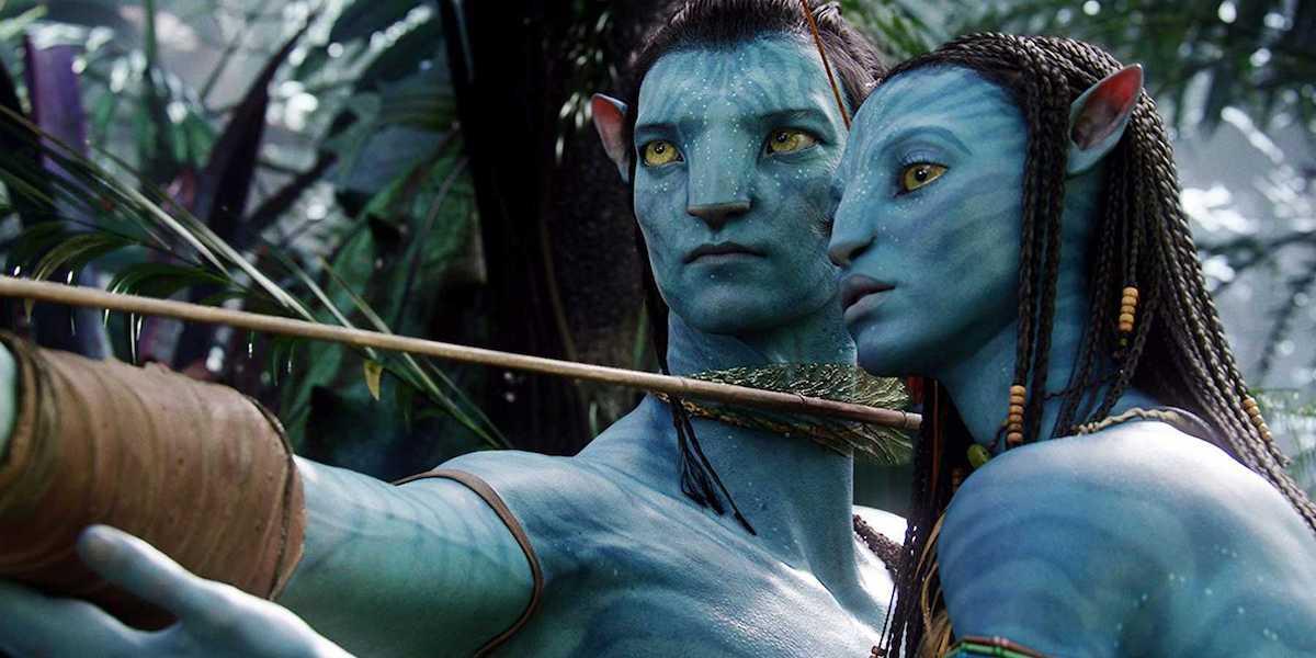 Jake Sully and Neytiri in Avatar