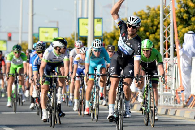 Tom Boonen wins stage four of the 2014 Tour of Qatar