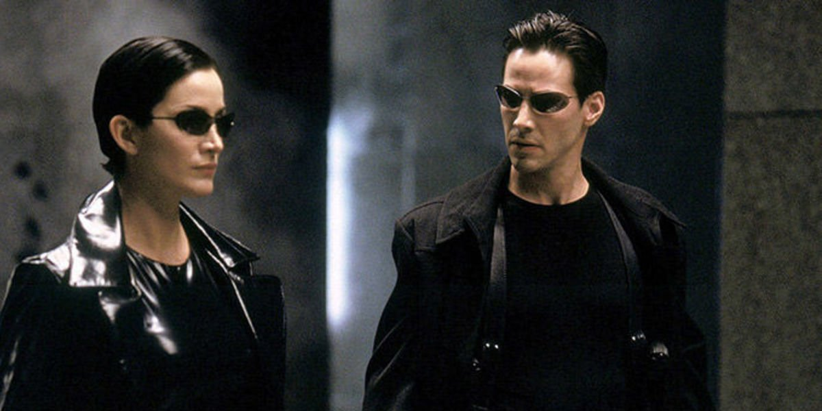 Trinity and Neo in The Matrix