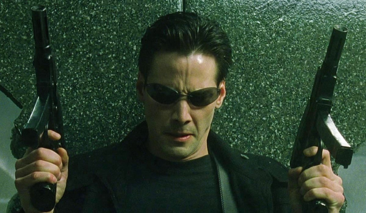 The Matrix Keanu Reeves looks down