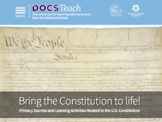 An original copy of the U.S. Constitution