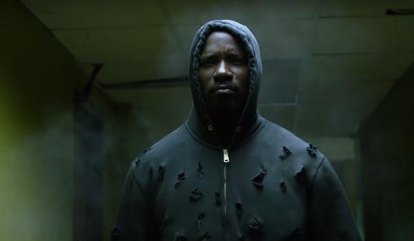Luke Cage wearing bullet hole hoodie
