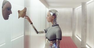 A scene from the science fiction A.I. film Ex Machina.