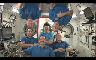 Six space station astronauts will celebrate New Year's in space.