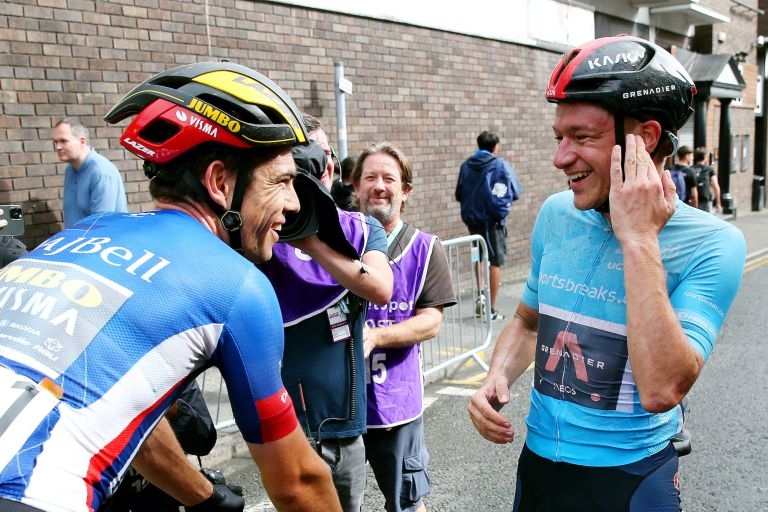 Wout van Aert and Ethan Hayter at the Tour of Britain