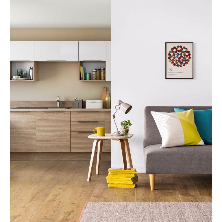 John Lewis Black Friday: sofa bed displayed in open plan living room and kitchen