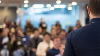 Man giving a presentation