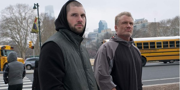 Creed II Florian Munteanau and Dolph Lundgren looking mean in Philly