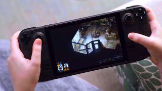 Valve Steam Deck playing Disco Elysium