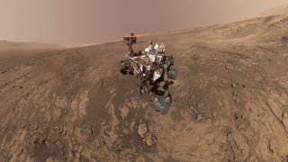 Mars Rover Curiosity on Vera Rubin Ridge