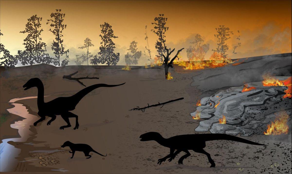 Dinosaur 'Firewalkers' left behind giant footprints in a 'land of fire'
