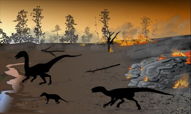 Recently discovered dinosaur and small animal footprints date back 183 million years to periods of quite in between fiery, lava eruptions.