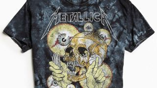 One of the six Metallica t-shirt designs