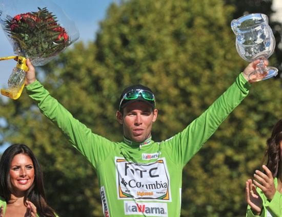 Mark Cavendish wins green jersey, Vuelta a Espana 2010