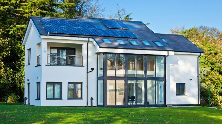 Mark Group Research House Eco-house in the Creative Energy Homes area at Nottingham University England UK