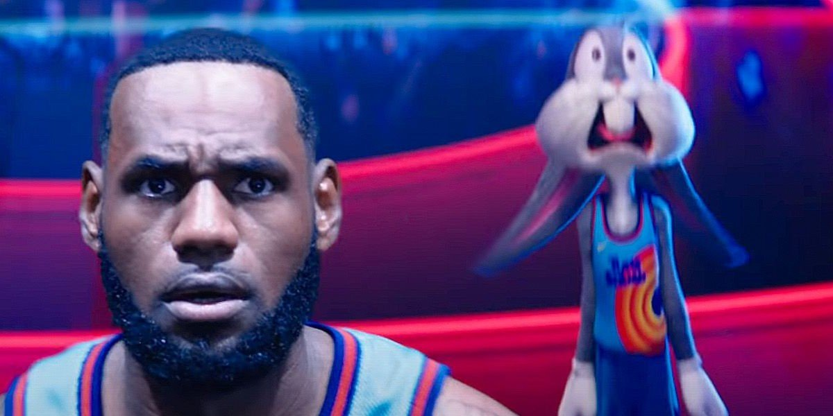LeBron on the left, Bugs on the right