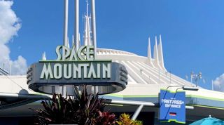 The Space Mountain ride at Disneyland.
