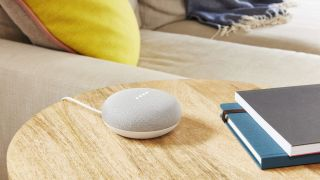 The Google Home Mini smart speaker