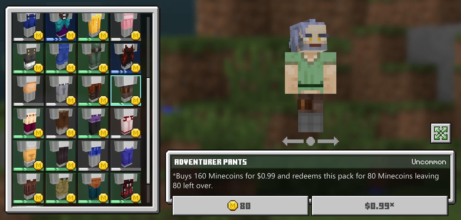 Minecraft character creator will sync between Windows 8 PC