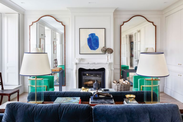 Symmetry in interior design - living room