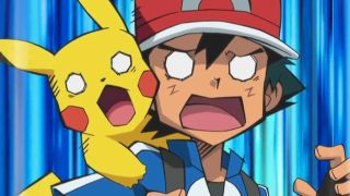 Ash and Pikachu from the Pokemon anime