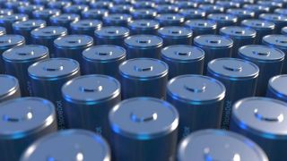 A sea of batteries all standing on their end