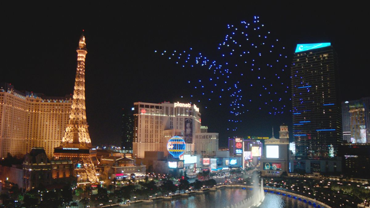 Pixels in the night:why drone light shows are taking off