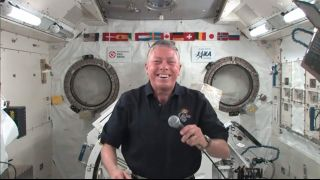 Space station commander Mike Fossum spoke with SPACE.com on Oct. 19, 2011.