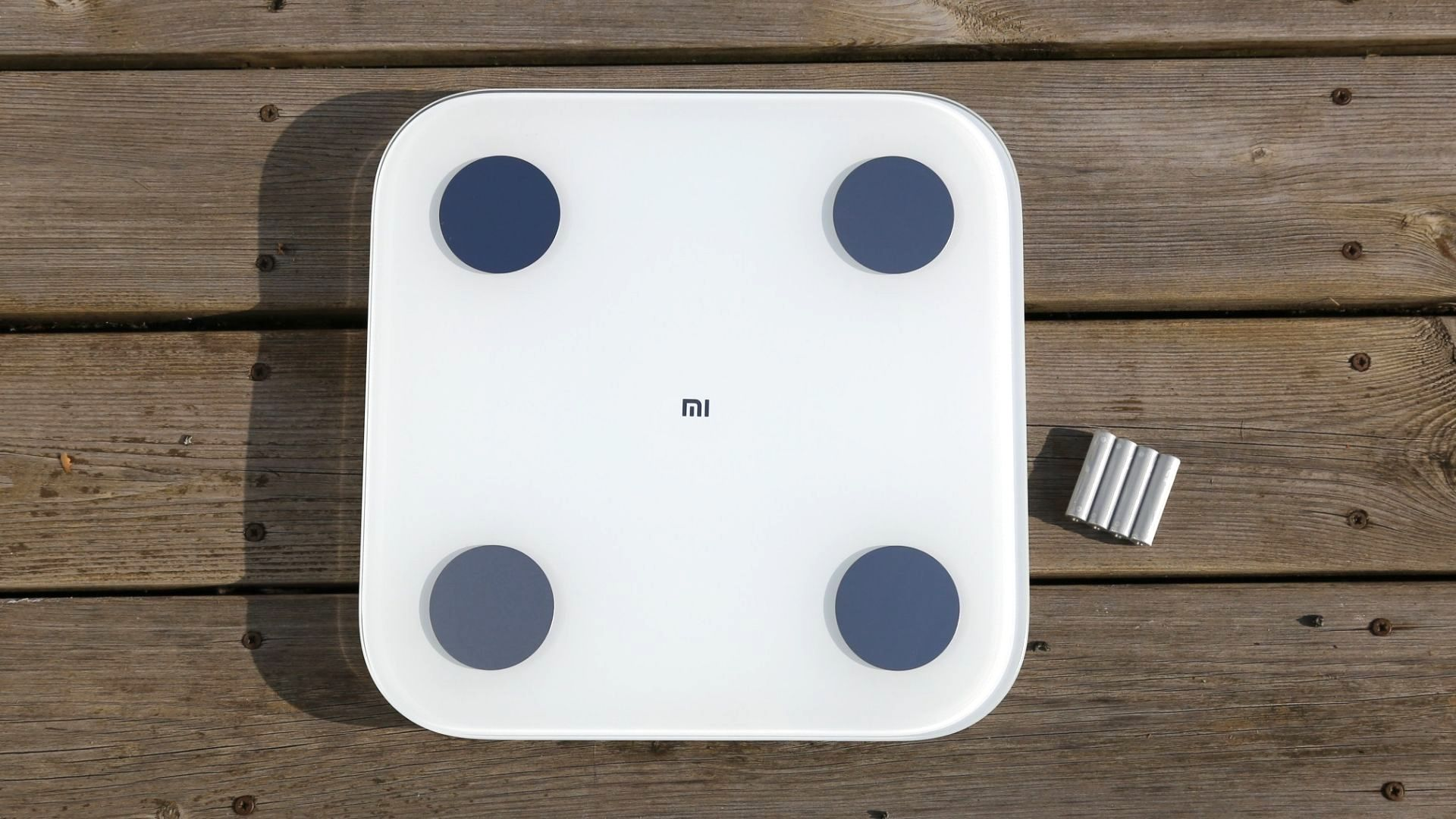 Top-down view of the Xiaomi Mi Body Composition Scale 2