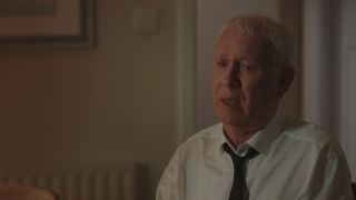 Charlie in tears on the day of Duffy's funeral in Casualty