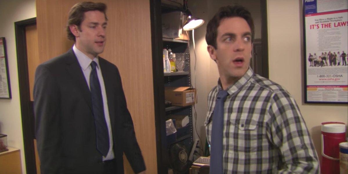 John Krasinski and B.J. Novak in The Office