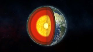 Illustration of Earth's internal structure.