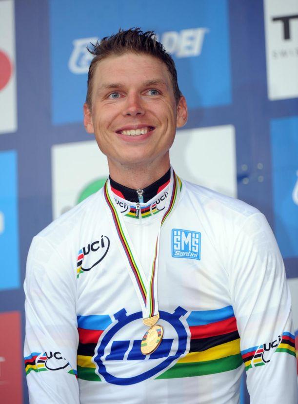 Tony Martin, new world champ, Elite men time trial, Road World Championships 2011