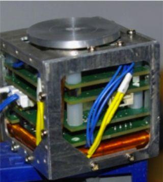 A Fully Assembled CubeSat satellite