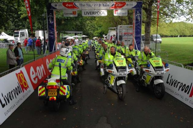 Police riders get ready