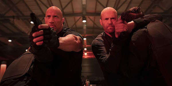 Dwayne Johnson and Jason Statham in Hobbs and Shaw