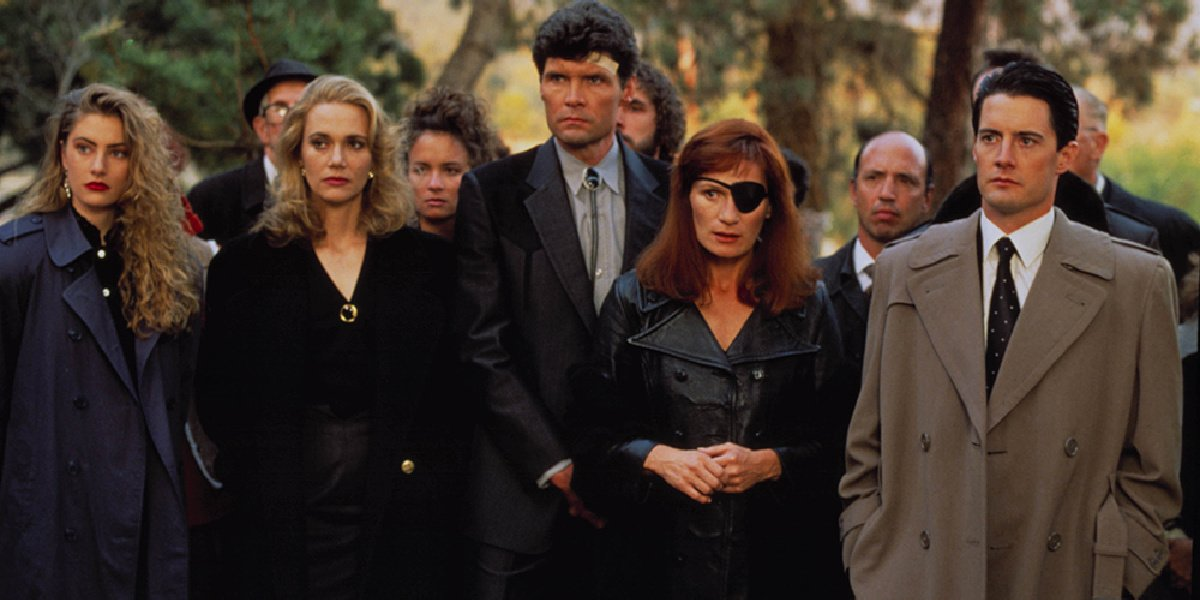 Some of the main cast of the series, Twin Peaks.