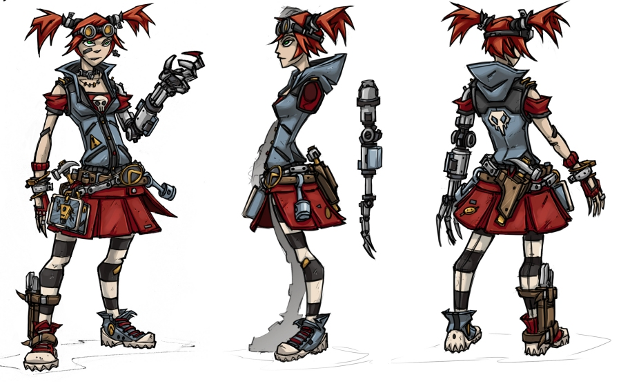 First Concept Art Released For Borderlands 2's Mechromancer #21484