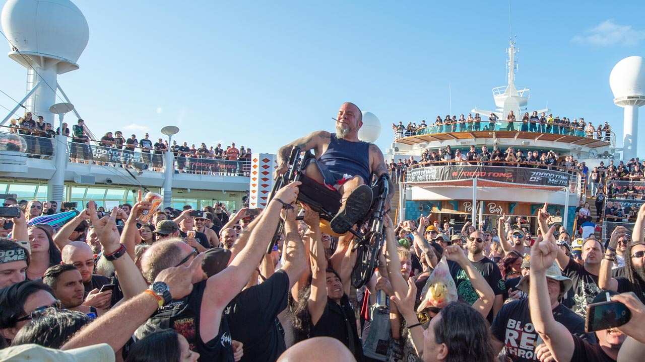 Here's what happens when you stick 5,000 metalheads on a ship in the Bahamas