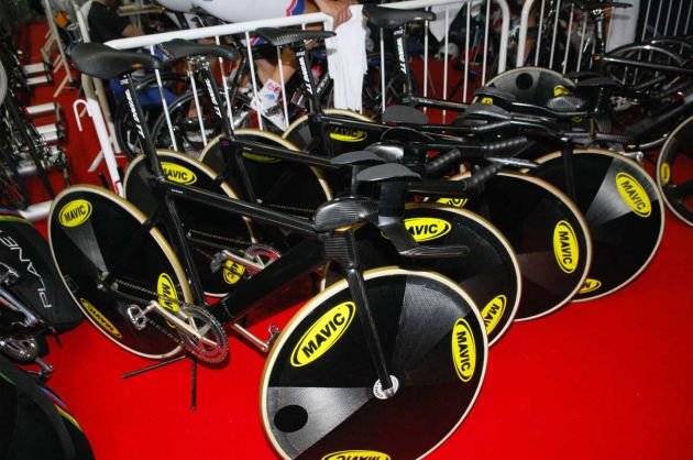 Team GB track bikes