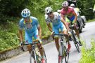Mikel Landa leads Aru and Contador on stage sixteen of the 2015 Tour of Italy