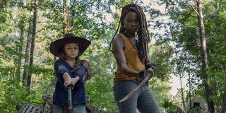 the walking dead michonne and judith season 10