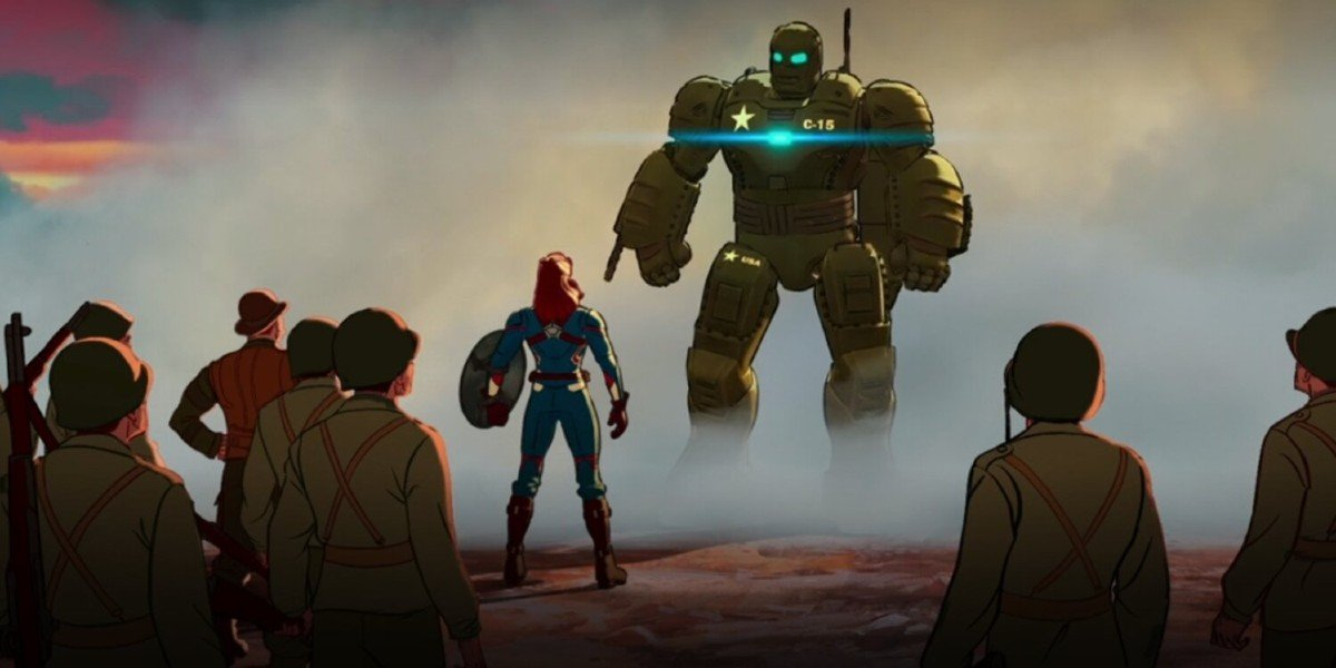 Peggy Carter and the Howling Commandos greet Iron Man on Marvel's What If...? (2021)