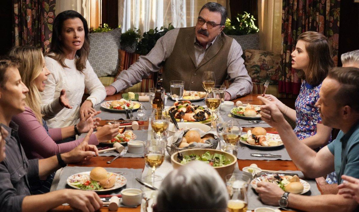 Blue Bloods Season 10 premiere family dinner CBS
