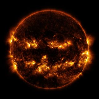 The Sun's 'Jack-O-Lantern' Face