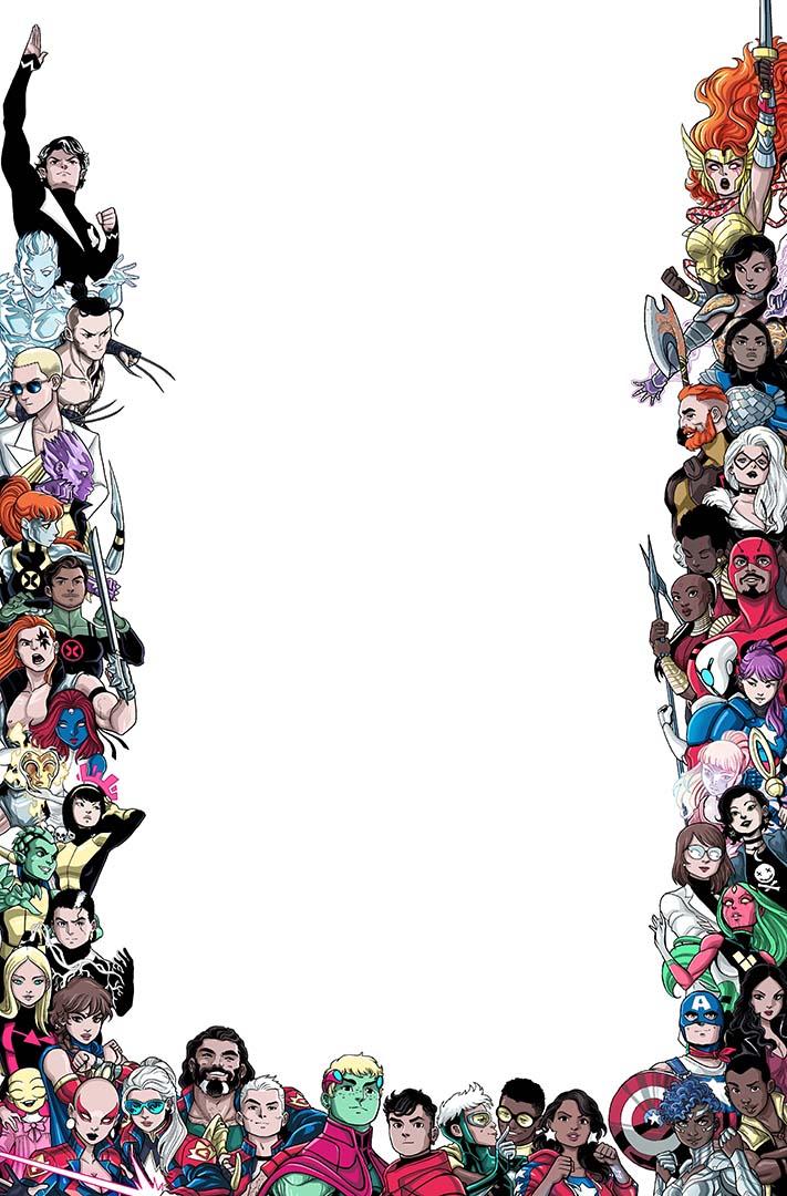 Portada variante de las voces de Marvel: Pride # 1 de Luciano Vecchio